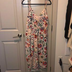 Blush faux wrap midi dress